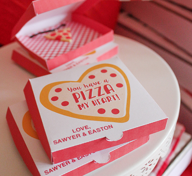 mini pizza box valentine, pizza, you have a pizza my heart, pizza my heart, pizza valentine, kids valentine, school valentine, classroom valentine