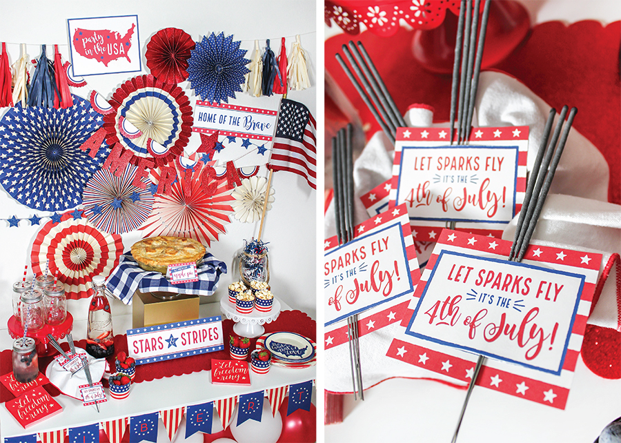 apple pie, apple pie recipe, apple pie filling, apple pie filling recipe, 4th of July, My Mind's Eye, 4th of July decor, 4th of July printables, Just Add Confetti, 4th of July free printables, sparkler tag, Home of the Brave, Party in the USA