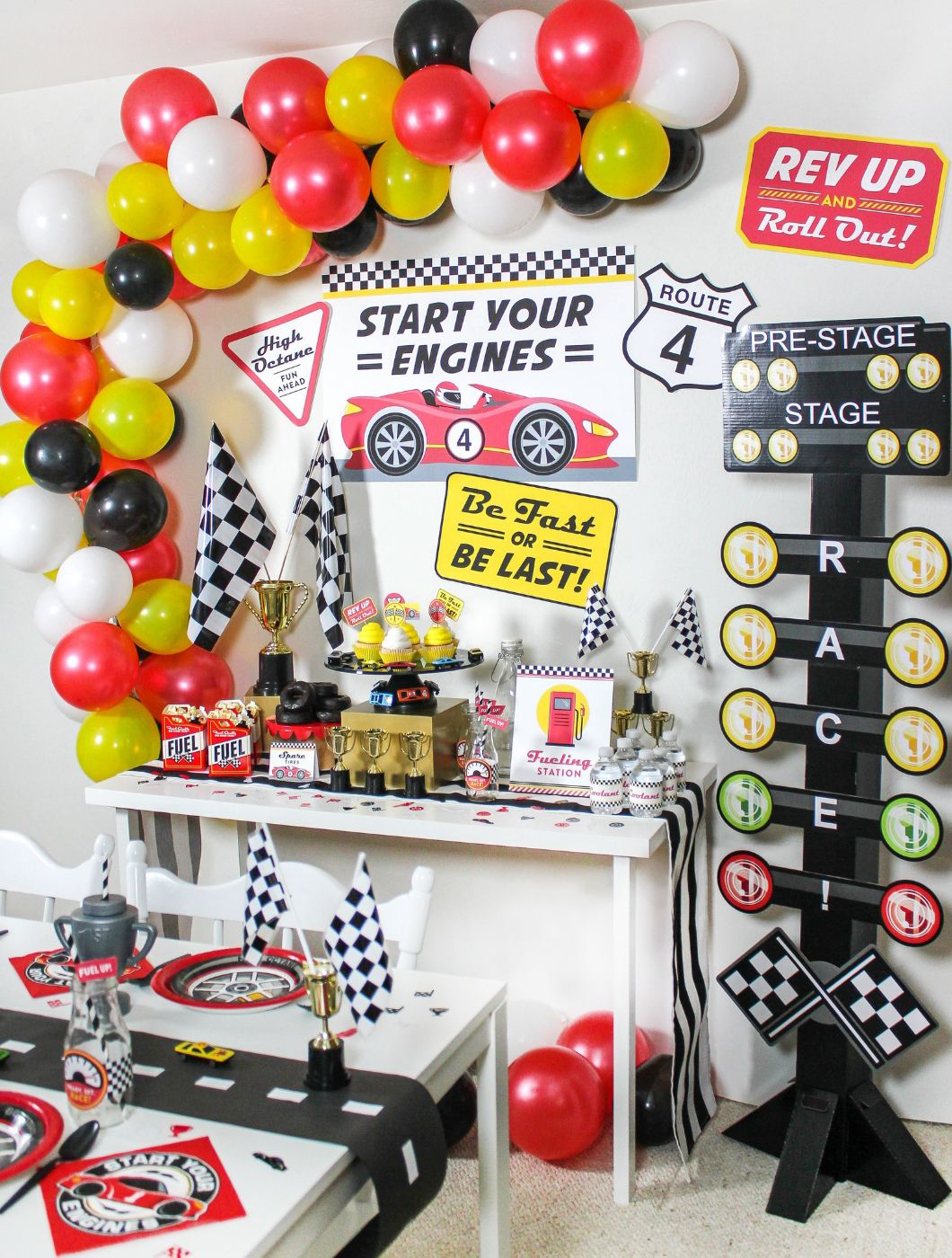 race car party, oriental trading, Fun365, partnership, free printable, party printables, grab a pit pass, race car, sugar rush raceway, start your engines, brand partner, Just Add Confetti, be fast or be last