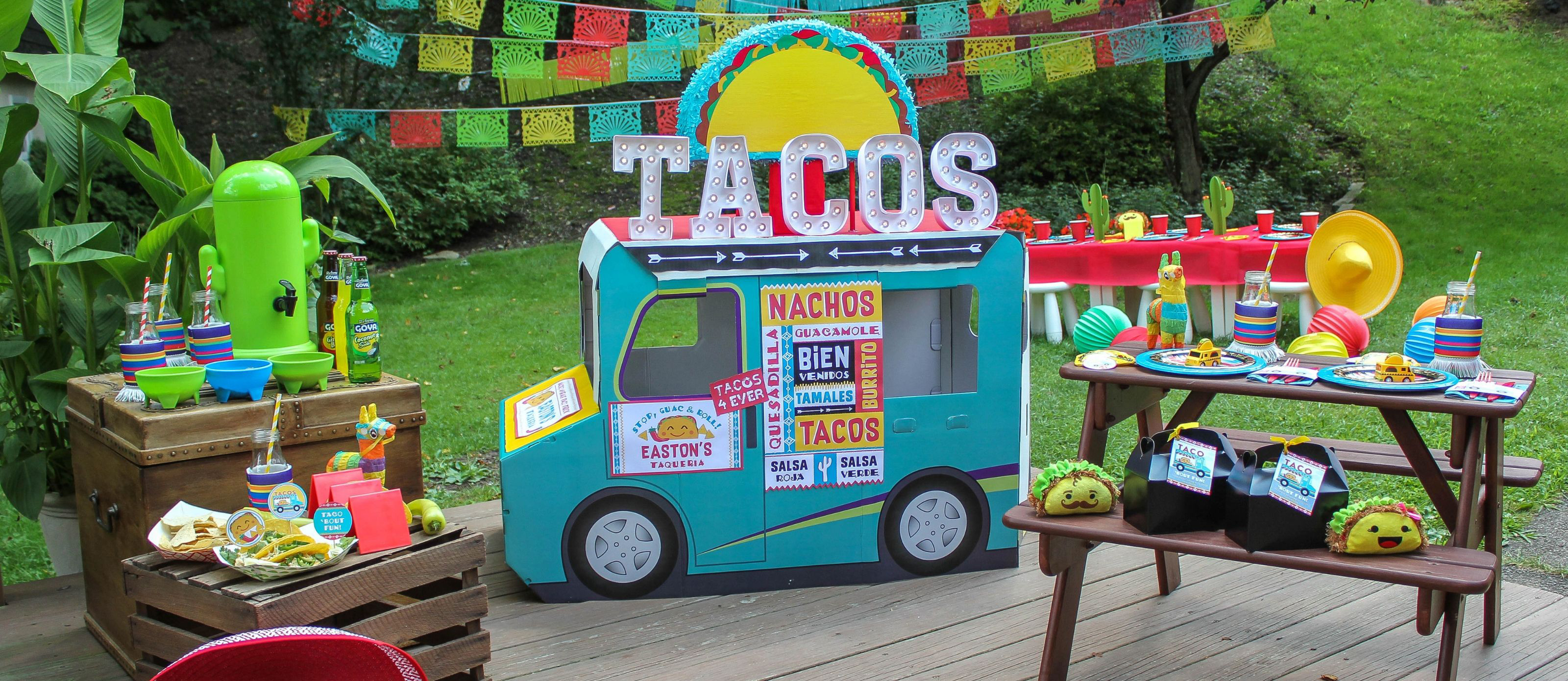 taco truck, taco truck party, taco, taco 'bout fun, oriental trading, Fun365, Just Add Confetti, fiesta, taco truck fiesta, diy taco truck, kids party, party ideas, diy party ideas, free printables, party printables, taco truck birthday party, taco party
