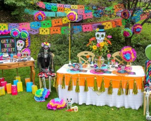 Day of the Dead Backyard Tween Halloween Party