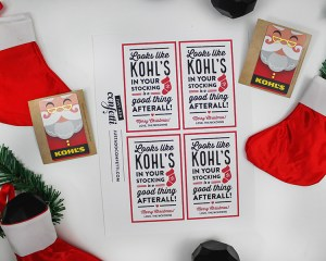 Kohl's Christmas Gift Card Idea