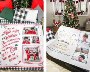 A Christmas Family Tradition + Personalized Photo Blanket Giveaway!