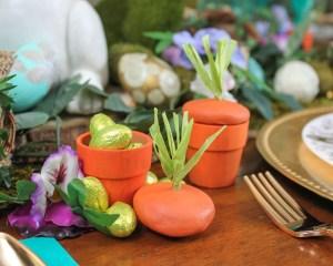 DIY Carrot Pot Easter Craft