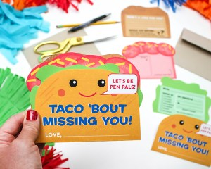 Taco Pen Pal Letter for Kids