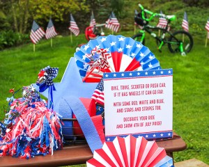 4th of July Bike Decorations with Free Printables
