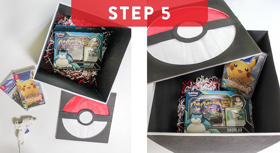 DIY Pokemon gift box, poke-a-ball punch box, Pokemon gift packaging, creative gift packaging, DIY Pokemon decorations, Pokemon birthday party games, Just Add Confetti, Pokemon party,