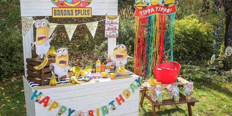Minions Birthday Party: Banana Split Stand