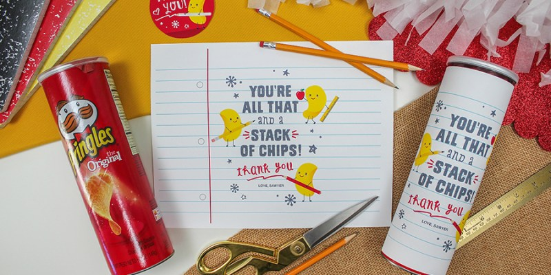 Pringles Chips Teacher Appreciation Gift Idea