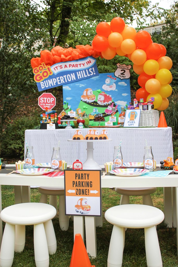 car party, transportation party, kids party, Go Go Cory Carson, Cory Carson, birthday party, partnership, Just Add Confetti, vtech, car themed kids party