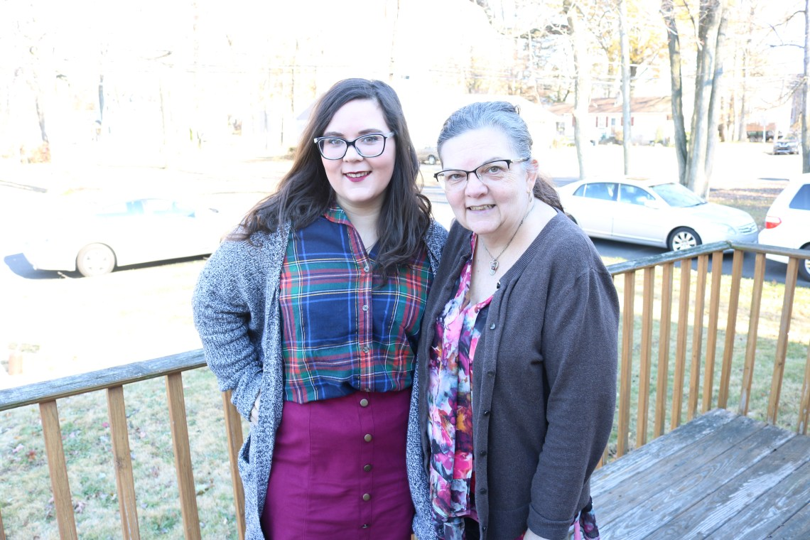 a photo of me and my mom on thanksgiving of 2017