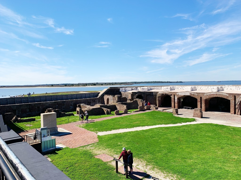 a photo of the courtyard within Fort Sumter.