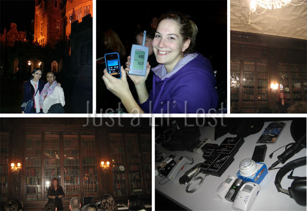Ardo & I in front of Casa Loma pre-ghost hunt | Becky with her ghost hunting gear | Opening chats | The group's equipment