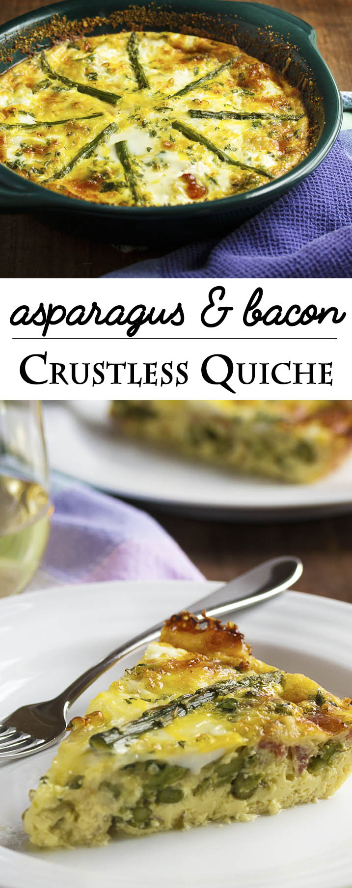 Asparagus And Bacon Crustless Quiche Just A Little Bit