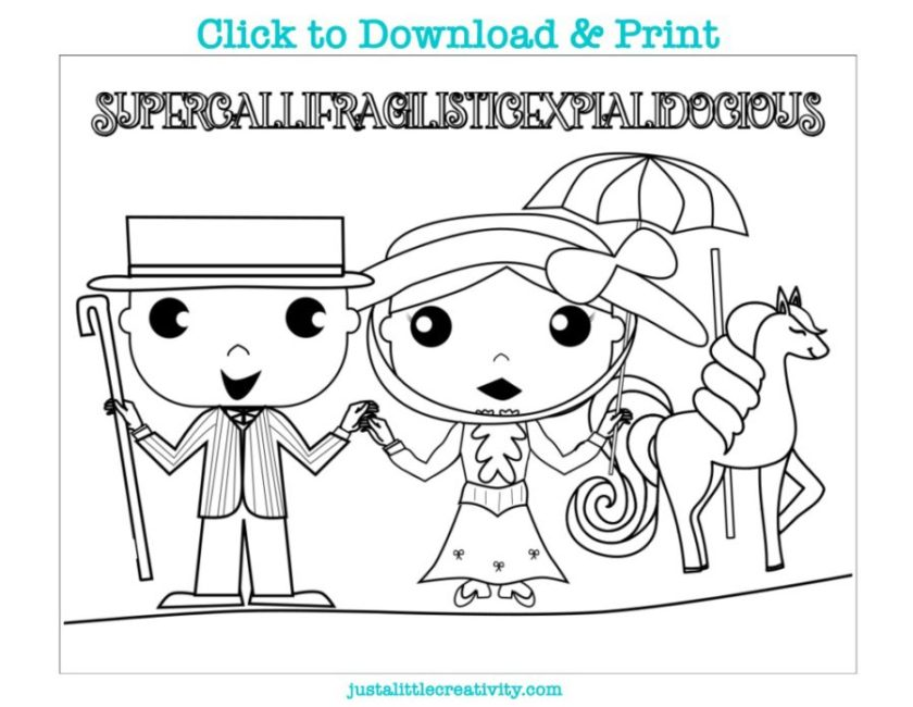 three free mary poppins coloring pages  just a little