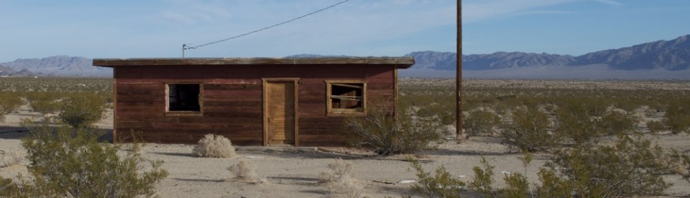 An Old Cabin in Wonder Valley near Twentynine Palms