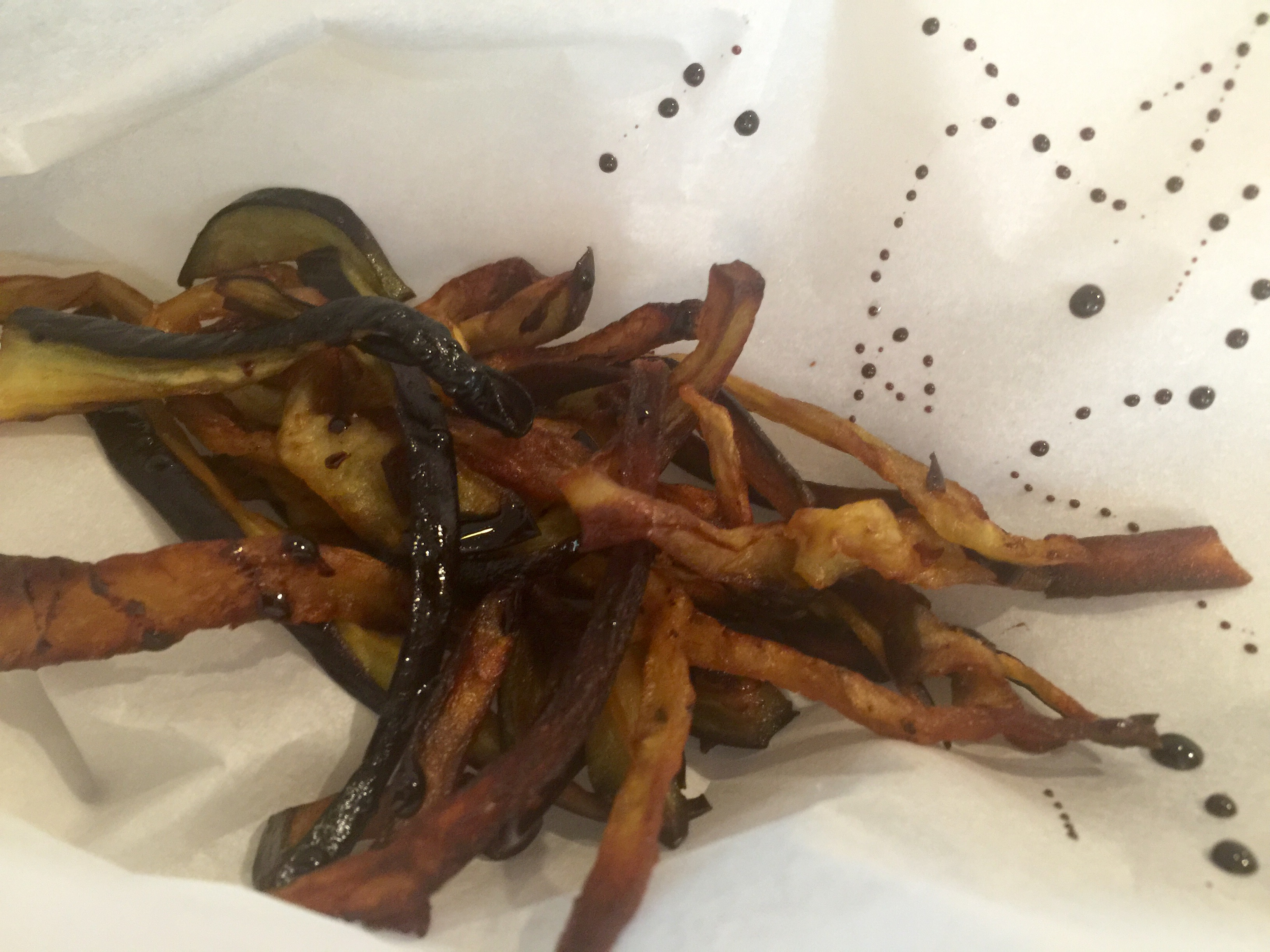 Eggplant Fries with Molasses and Sea Salt