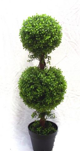 Artificial Topiary Boxwood Double Ball Tree Just Artificial
