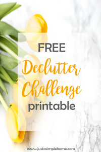 Free Declutter Challenge printable
