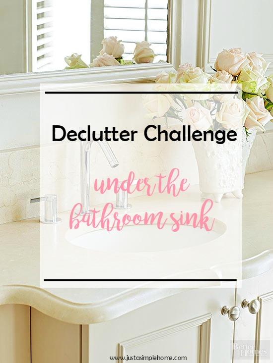 Declutter Challenge Bath Sink