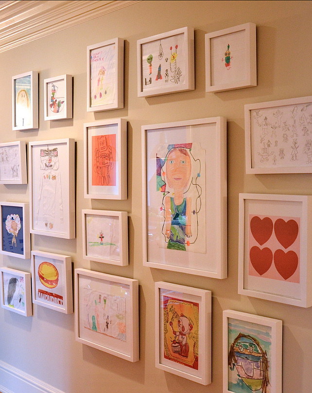 Declutter challenge day 23 kids artwork just a simple home - Simple ways of keeping your home organized using magnetic picture frames ...