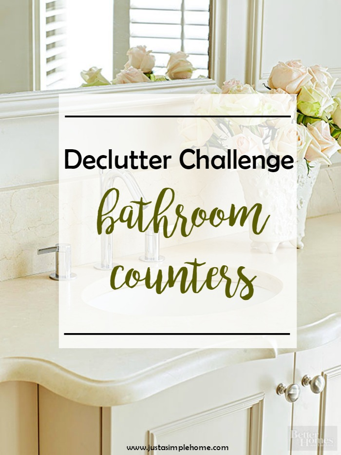 declutter Challenge bathroom counter