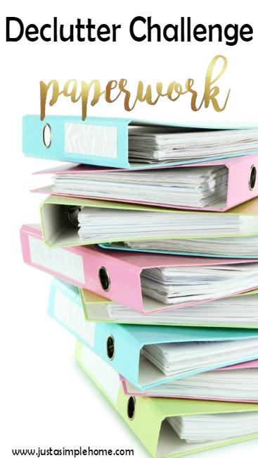 declutter challenge paperwork