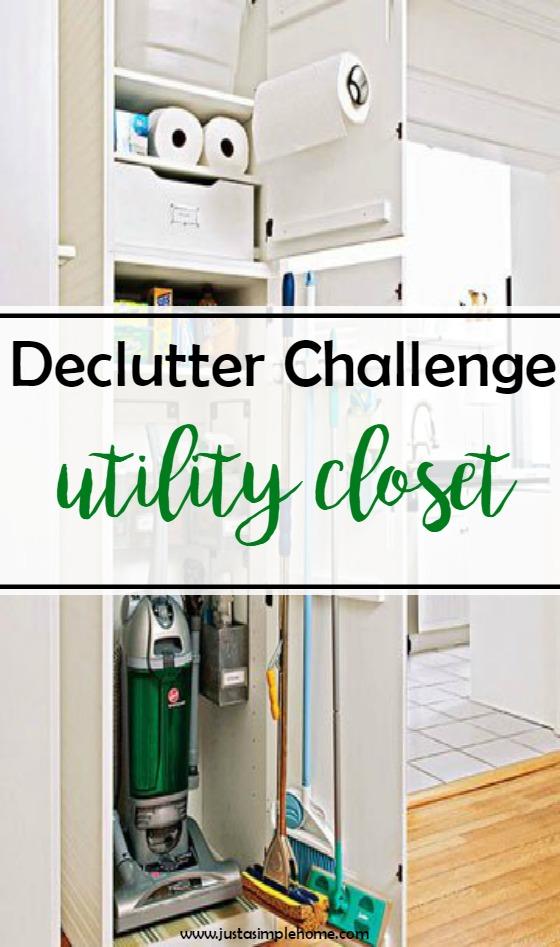 declutter challenge utility closet