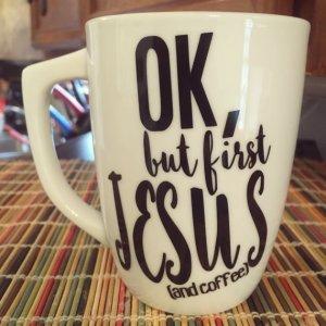 First Jesus mug