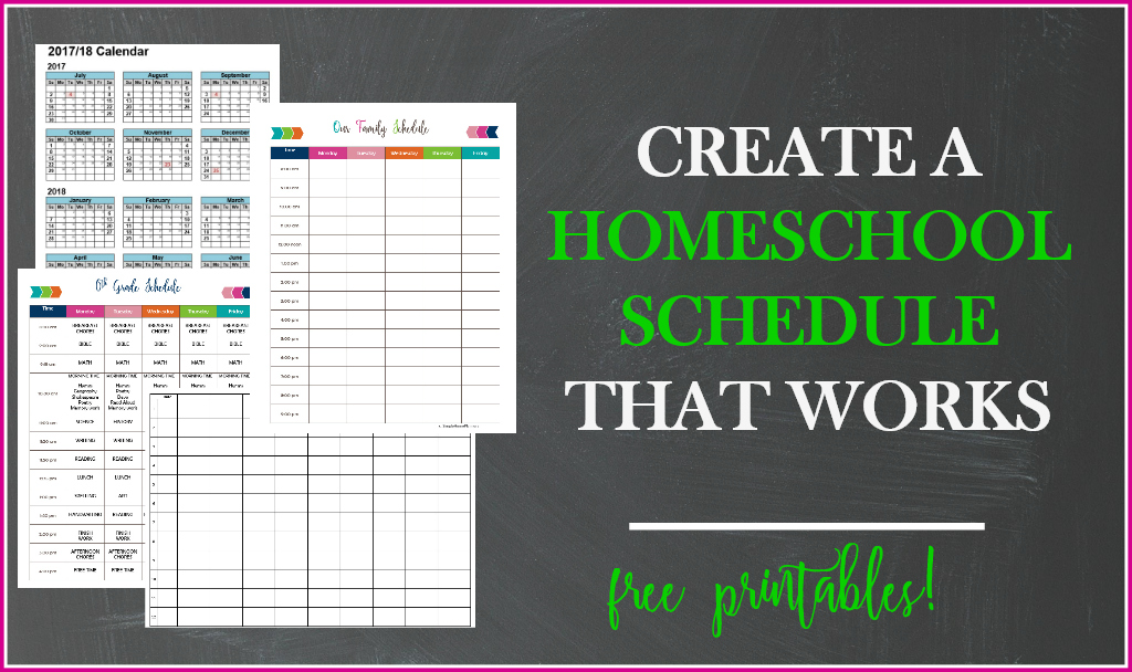 This is an image of Printable Homeschool Schedule inside homeschool organization