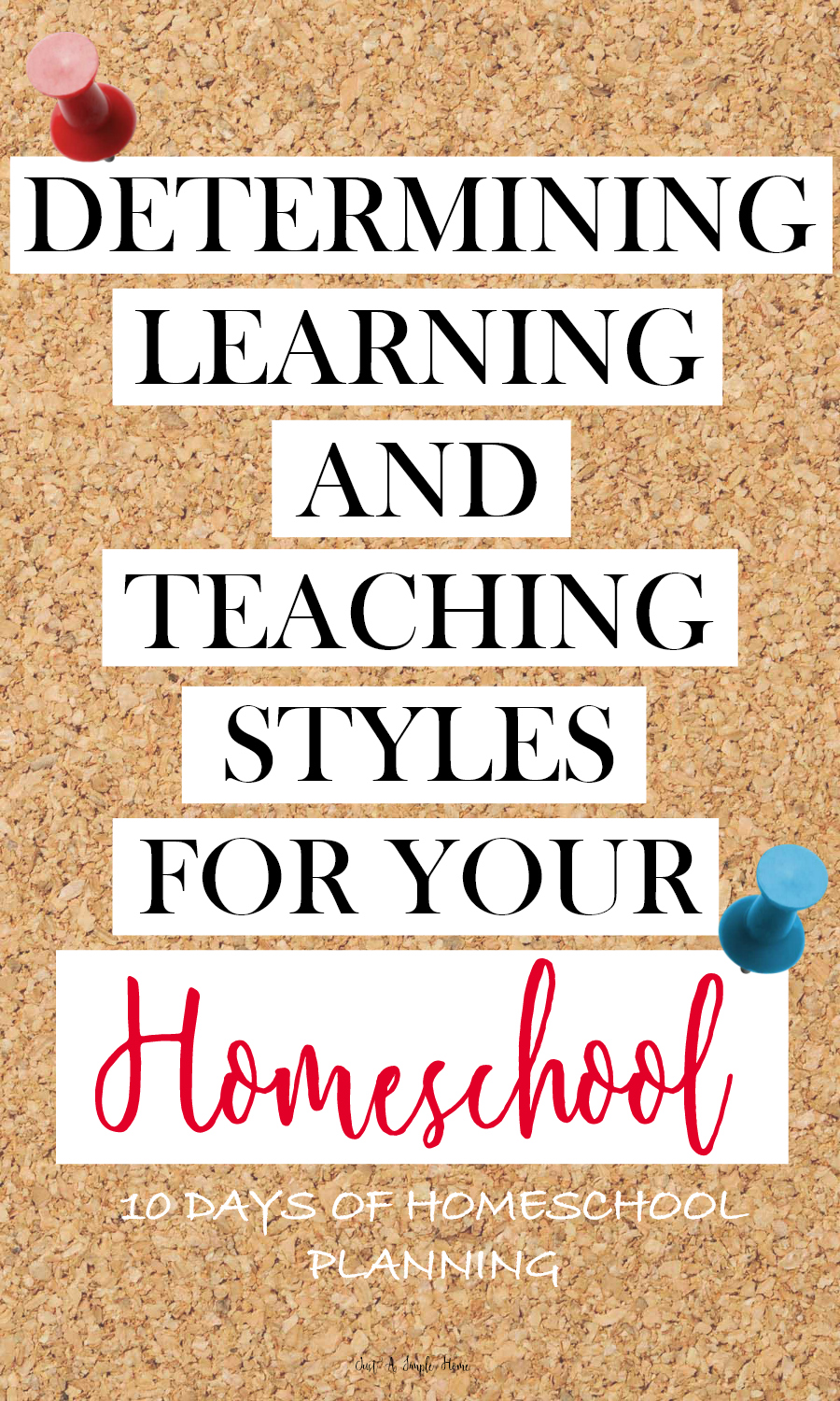 Determine Learning and Teaching Styles in your Homeschool - 10 Days of Homeschool Planning