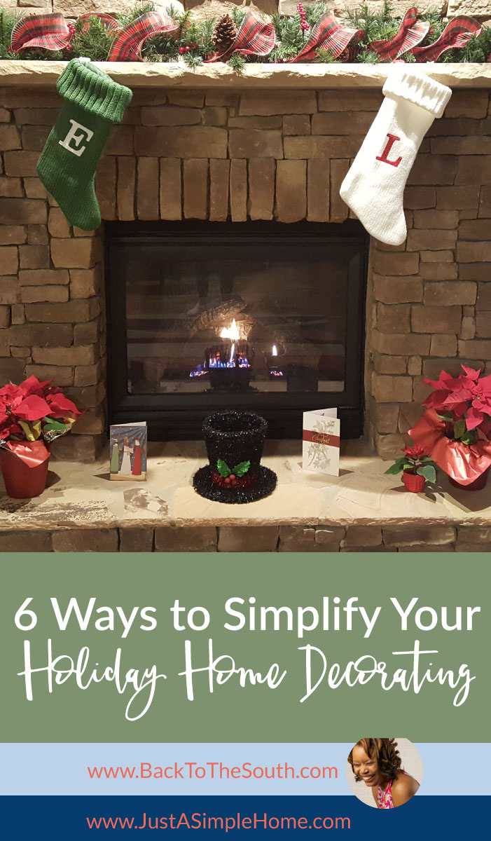 6 ways to simplify your home decor for the holidays - Simplify Christmas Decorating