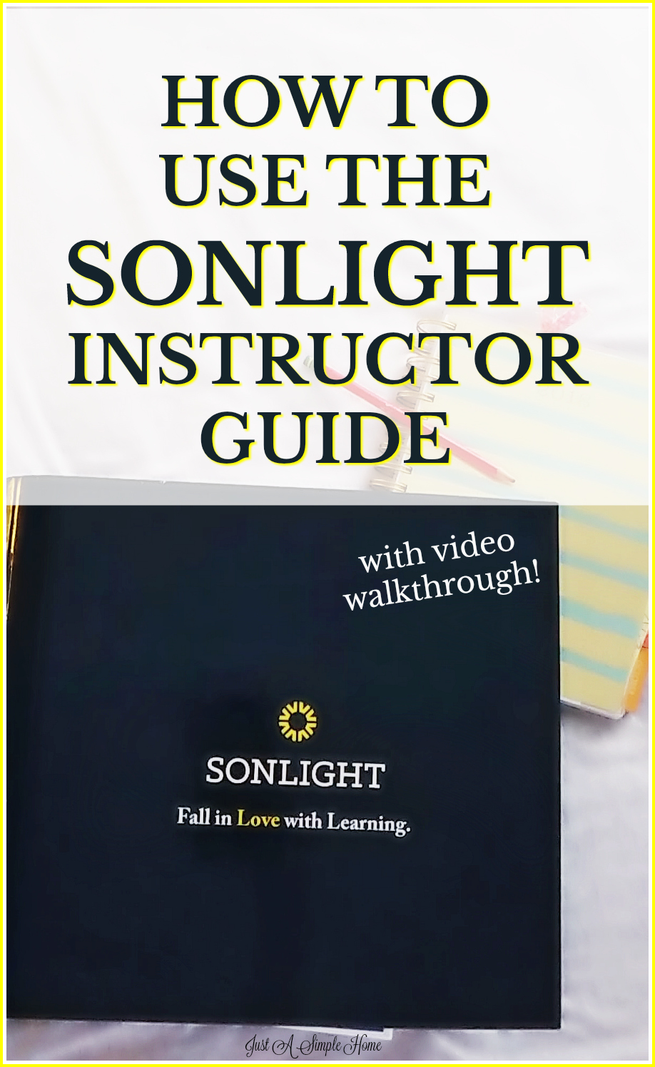 How To Use the SonLight Instructor Guide. Take a peek inside my Sonlight Instructor Guide for Level 100 and see how simple it is to teach your student with this guide! #SonLight #homeschool #homeschooltips #Sonlightlevel100