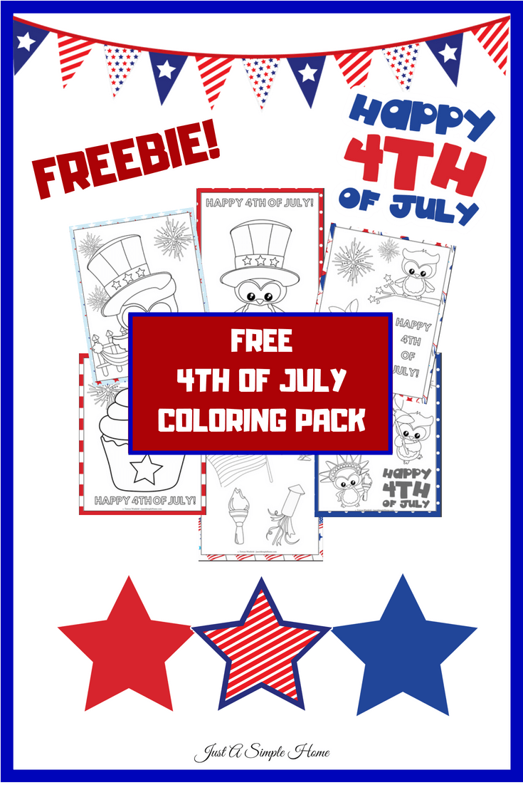 4th Of July Coloring pack for elementary age! This is a free coloring book for your children to color while getting excited to celebrate Independence Day! Free July 4th coloring pages #july4th #4thofjuly #coloring #4thofjulyprintable #homeschool