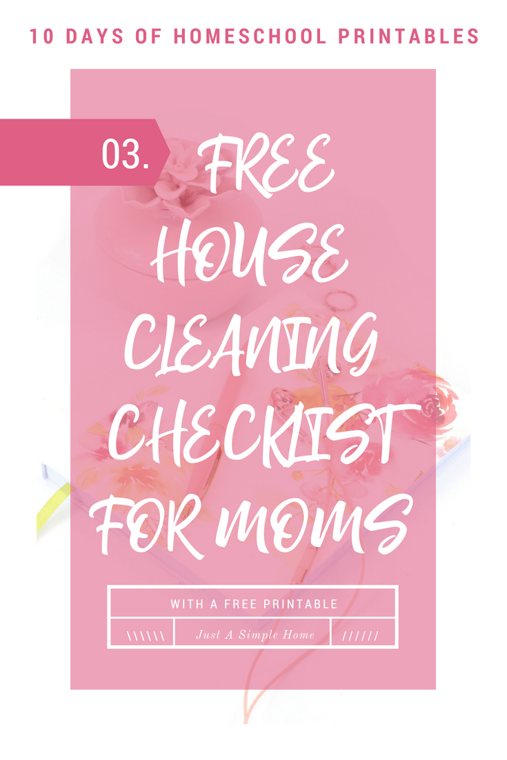 photograph about Printable Cleaning Schedule for Working Moms identified as Free of charge Housekeeping Record For Mothers - Simply A Straightforward Property