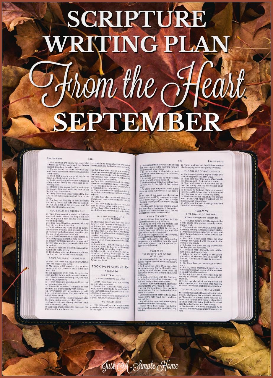 September Scripture Writing Plan - Just A Simple Hme - free Scripture writing plan