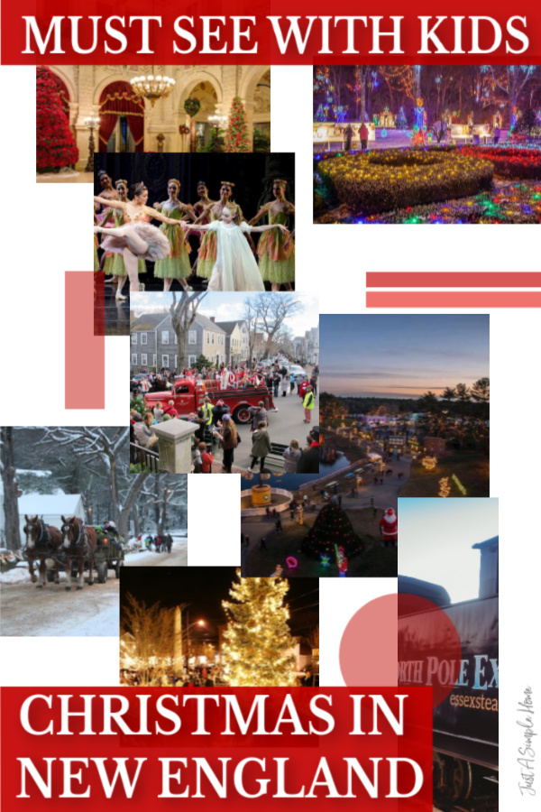 Christmas in New England With Kids- Make sure you check out these must see Christmas destinations with your family this Christmas season! #newengland #christmas #christmasinnewengland #familytravel #rhodeisland #massachusetts #wintergetaway