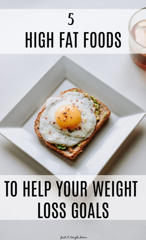 5 High Fat Foods to Help You With Your Weight Loss Goals - Trying to lose weight? Add in these healthy fats to your diet. #keto #healthyfat #avocado #ketodiet #health