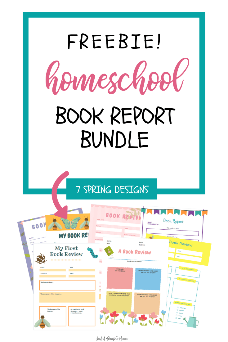 Free homeschool Book Report and Book Review printables for your elementary aged students! This is a free bundle of 7 printables. #homeschool #homeschoolprintables #bookreports
