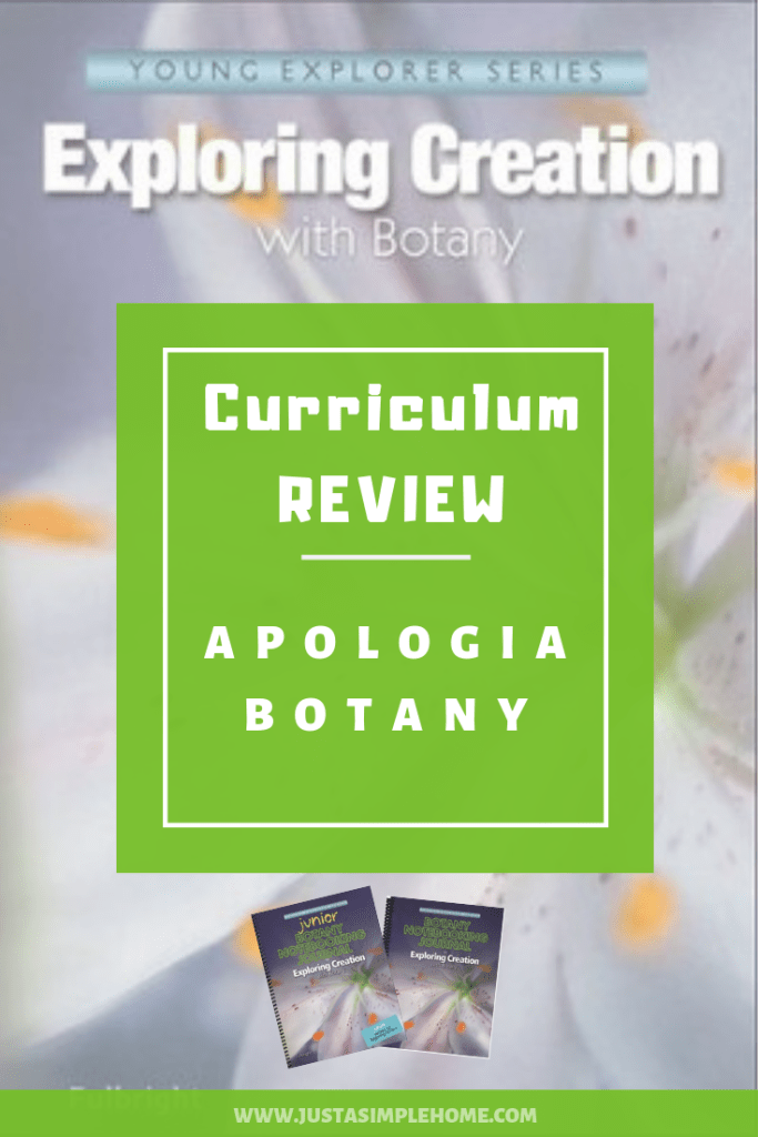 Apologia Botany Curriculum Review
