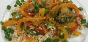 Vegetable Stir Fry Plated