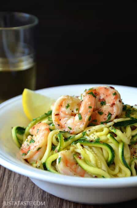 Skinny Shrimp Scampi with Zucchini Noodles Recipe