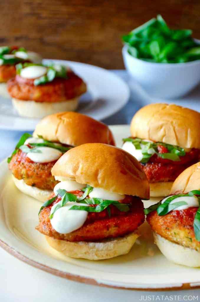 Easy Chicken Parmesan Sliders | Just a Taste