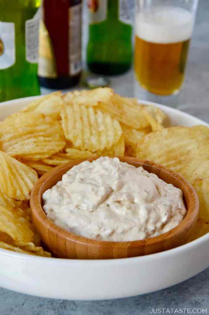 Homemade Sour Cream and Onion Dip | Just a Taste