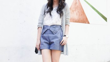 705151cbec74 Seoul Edition: Cutoff Shorts and Waterfall Drape Trench | Just A ...