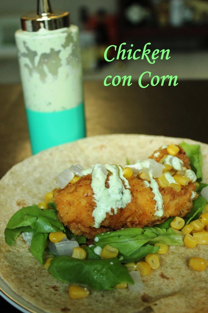 Green Goddess Dressing Chicken con Corn Wrap