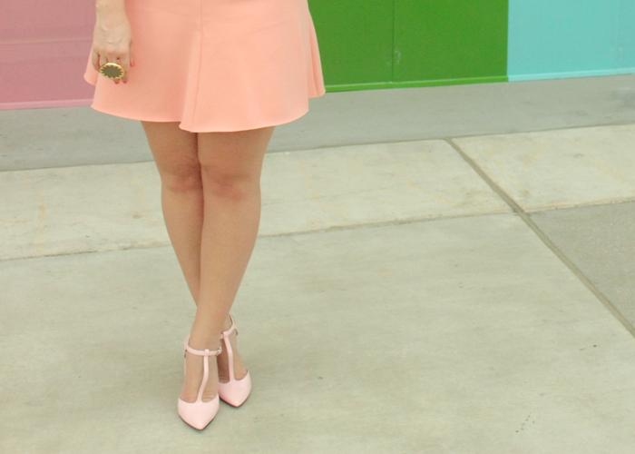 Zara Pink Skirt and Heels