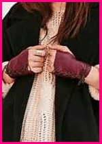 Urban Outfitters Lace-up Gloves