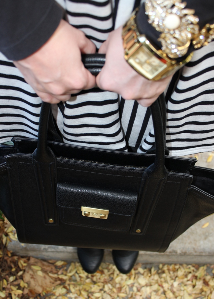 Black White Striped Dress