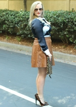Tinley Road Leather Skirt